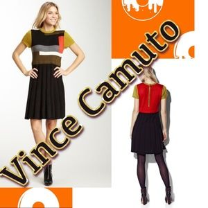 Vince Camuto Modern Colorblock Sweater Dress